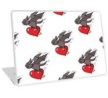 Cute Bat Valentine's day Laptop Skin