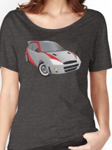 Red-Striped Cool Car Women's Relaxed Fit T-Shirt