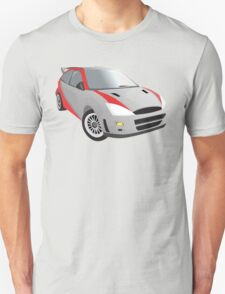 Red-Striped Cool Car T-Shirt