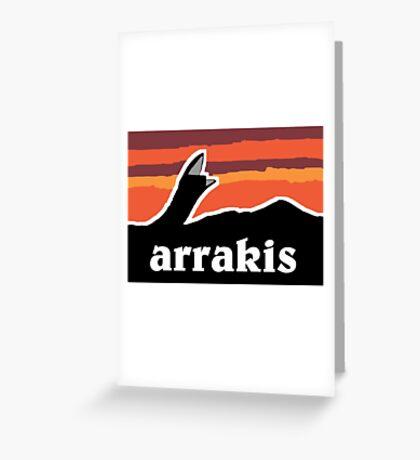 Arrakis Greeting Card