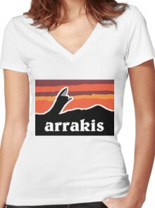 Arrakis Women's Fitted V-Neck T-Shirt