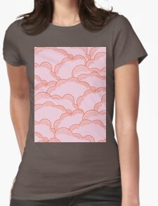 Pastel Pink Clouds Womens Fitted T-Shirt