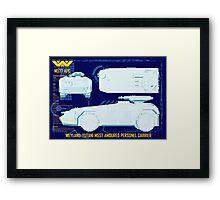 WEYLAND-YUTANI M557 AMOURED PERSONEL CARRIER Framed Print