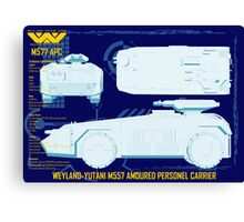 WEYLAND-YUTANI M557 AMOURED PERSONEL CARRIER Canvas Print
