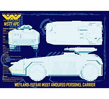 WEYLAND-YUTANI M557 AMOURED PERSONEL CARRIER Photographic Print