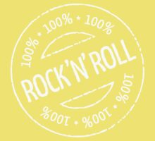 100% Rock 'n' Roll Stamp (White) One Piece - Short Sleeve