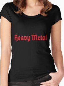 Heavy Metal 3D Red Women's Fitted Scoop T-Shirt