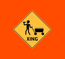 Daddy Crossing (Funny Xing Sign) Unisex T-Shirt
