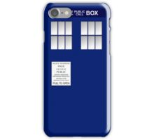 Police Box New Blue iPhone Case/Skin