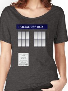 Police Box New Blue Women's Relaxed Fit T-Shirt