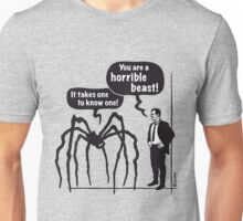 Cartoon: Horrible Beast! / It takes one to know one! Unisex T-Shirt
