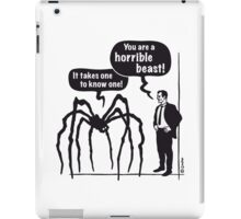 Cartoon: Horrible Beast! / It takes one to know one! iPad Case/Skin