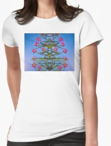 Flowers _edited version Womens Fitted T-Shirt
