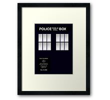 Police Box Classic Blue Framed Print