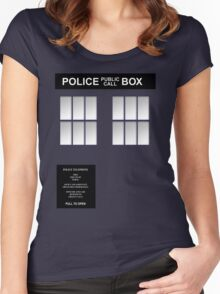 Police Box Classic Blue Women's Fitted Scoop T-Shirt