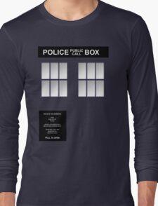 Police Box Classic Blue Long Sleeve T-Shirt