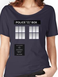 Police Box Classic Blue Women's Relaxed Fit T-Shirt