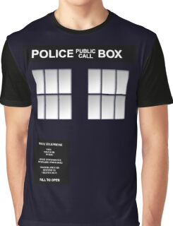 Police Box Classic Blue Graphic T-Shirt