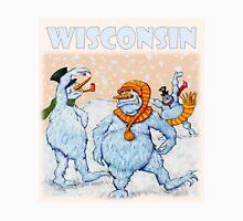 Wisconsin Snowmen in Snowball Fight Unisex T-Shirt