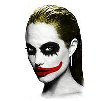 Angelina Jolie Shirt The Joker Photographic Print