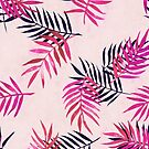 Pink Palm Pattern by micklyn
