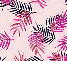Pink Palm Pattern by micklyn