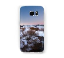 River Flowing in snow field sunset Samsung Galaxy Case/Skin