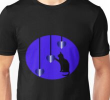 THIS PURR-FECT HEART'S FOR YOU--FELINE-CAT LOVERS APPAREL Unisex T-Shirt