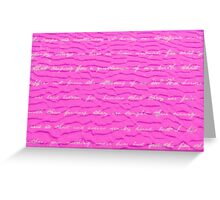 Yachats Oregon - Pink Sand Design Greeting Card
