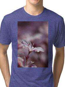 white and pink (1) Tri-blend T-Shirt