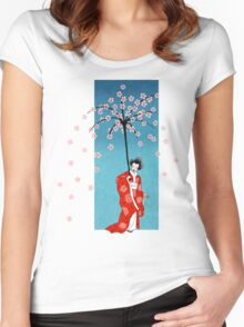 Spring Snow Parasol Women's Fitted Scoop T-Shirt