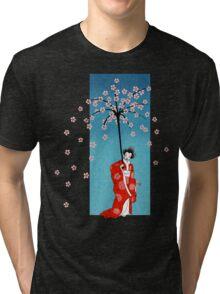 Spring Snow Parasol Tri-blend T-Shirt