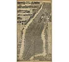 The City of New York Map (1879) Photographic Print