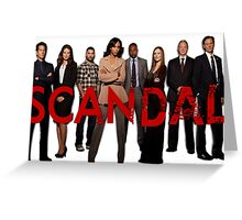 Scandal cast Greeting Card