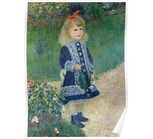 Auguste Renoir - A Girl with a Watering Can 1876 Poster