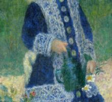 Auguste Renoir - A Girl with a Watering Can 1876 Sticker