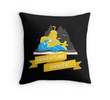Sci-Fi Book with Submarine Throw Pillow