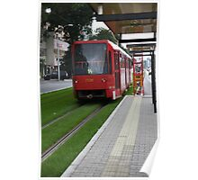 Tram on the lawn Poster