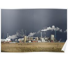 Industry In Contrast Poster