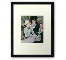 Auguste Renoir - After the Luncheon 1879 Framed Print