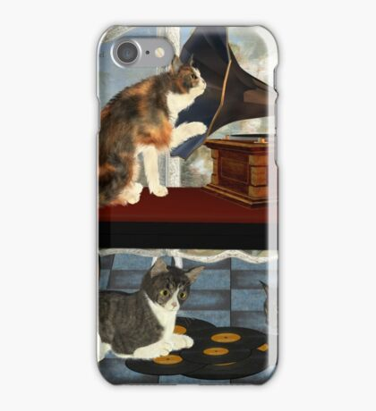 Musical Cats .. April iPhone Case/Skin