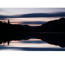 sunset over loch faskally Photographic Print