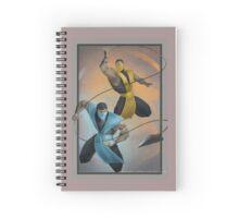 mk sub zero & scorpion    Spiral Notebook