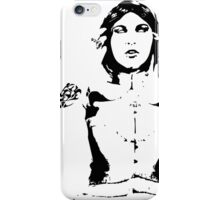 Blind Lady Silhouette iPhone Case/Skin