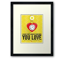 The Tin Man's Heart - Wizard of Oz Framed Print