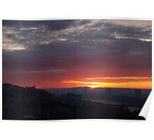 Sunrise over Bratislava Poster