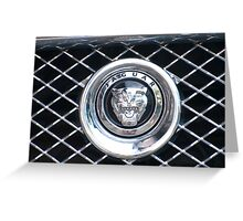 The emblem of the car Jaguar Greeting Card