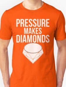 Pressure Makes Diamonds - Script Typography T-Shirt