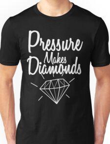 Pressure Makes Diamonds - Script Typography Unisex T-Shirt