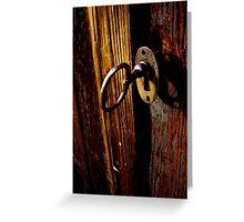 Key In Lock Greeting Card
